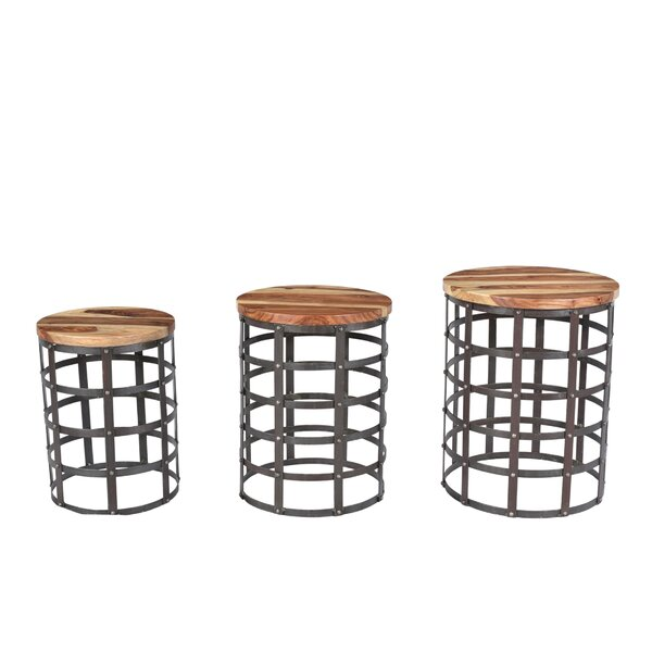 Bayaud Drum 3 Piece Nesting Table Set by 17 Stories