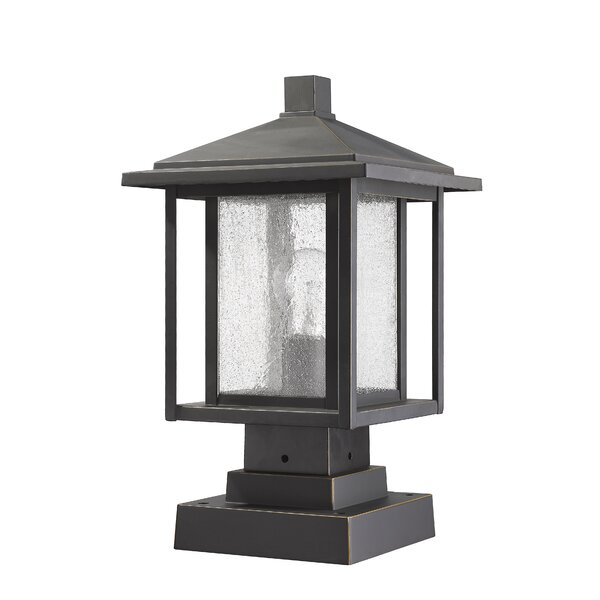 Hungate 1-Light Outdoor Pier Mount Light by Bloomsbury Market