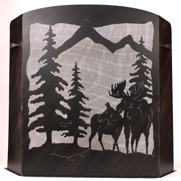 Jolley Scene 3 Panel Iron Fireplace Screen By Millwood Pines