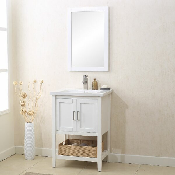 Annabel 24 Single Bathroom Vanity Set with Mirror by Beachcrest Home