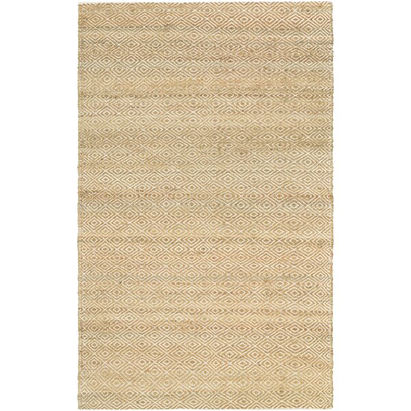 Uhlig Hand Woven Cotton Camel/Ivory Area Rug by Bungalow Rose