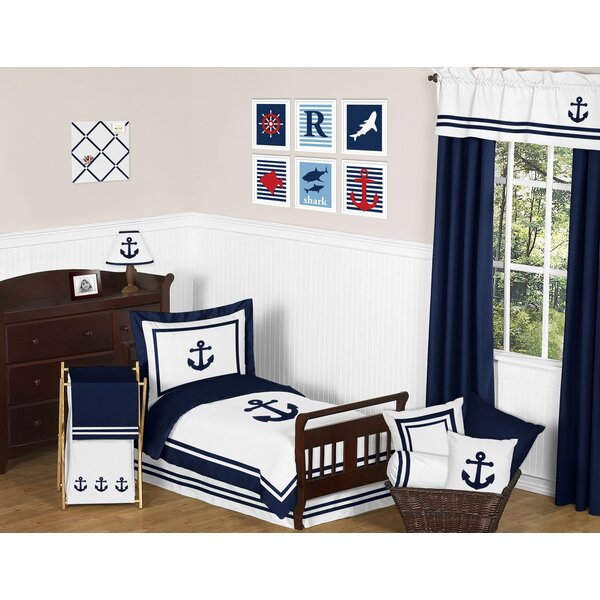 Anchors Away 5 Piece Toddler Bedding Set by Sweet Jojo Designs