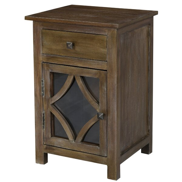Kristy End Table with Storage by Millwood Pines Millwood Pines