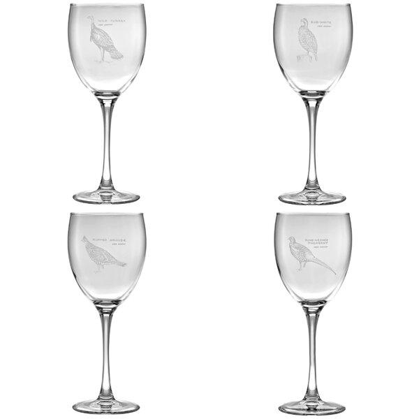 Upland Gamebirds 4 Piece Glass Assorted Glassware Set by Ned Smith