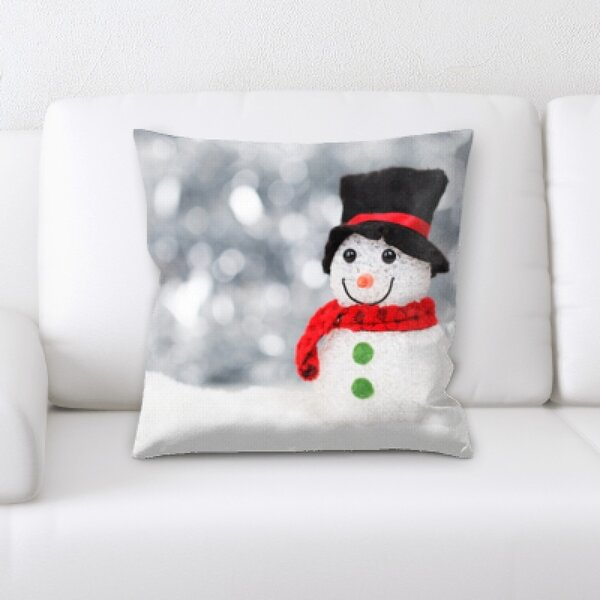 Continuum Snowman Throw Pillow by The Holiday Aisle