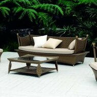 Zen Patio Sofa with Cushions by 100 Essentials