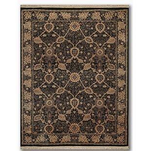 Reviews Phyllis Traditional Wool Black/Tan/Brown Area Rug ByCanora Grey
