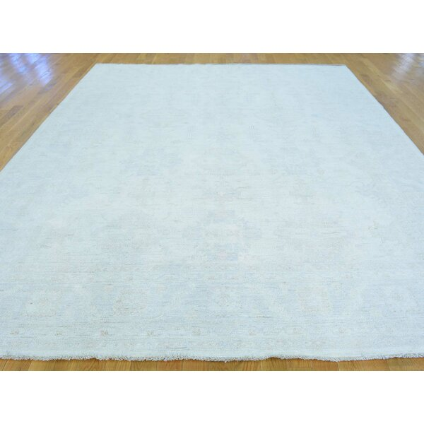 One-of-a-Kind Bearer Washed Out Handwoven Ivory Wool Area Rug by Isabelline