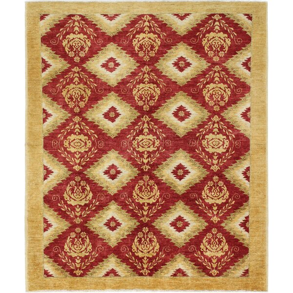 One-of-a-Kind Curtsinger Hand-Woven Wool Red/Gold Area Rug by Fleur De Lis Living