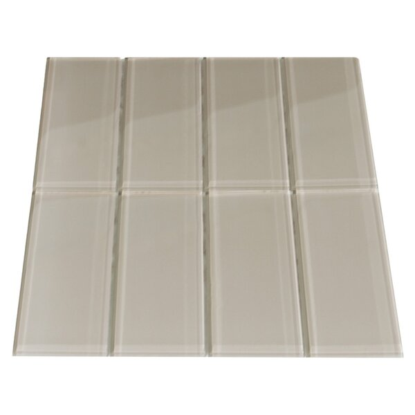 Tungsten 3 x 6 Glass Mosaic Tile in Taupe by CNK Tile