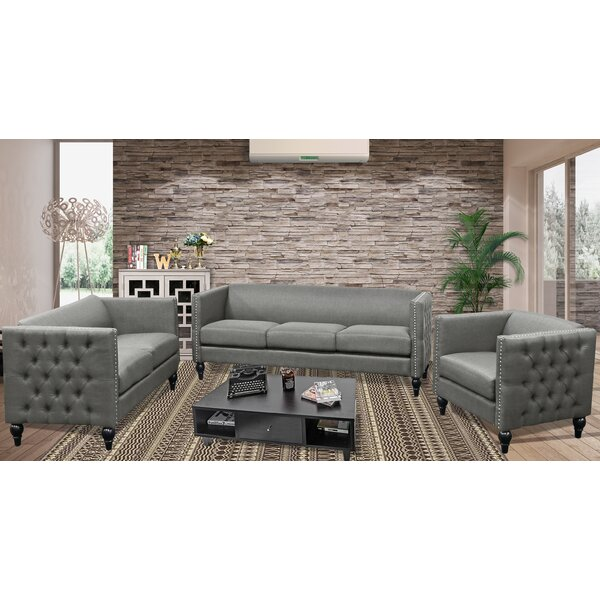 Marrs Modern 3 Piece Living Room Set by House of Hampton
