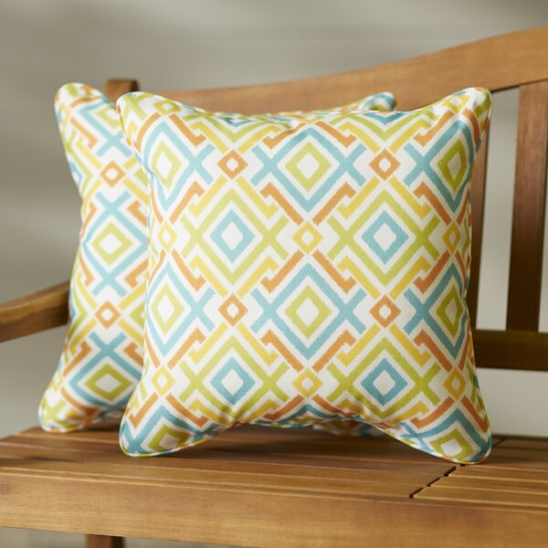 Pick City Indoor/Outdoor Throw Pillow (Set of 2) by Bungalow Rose