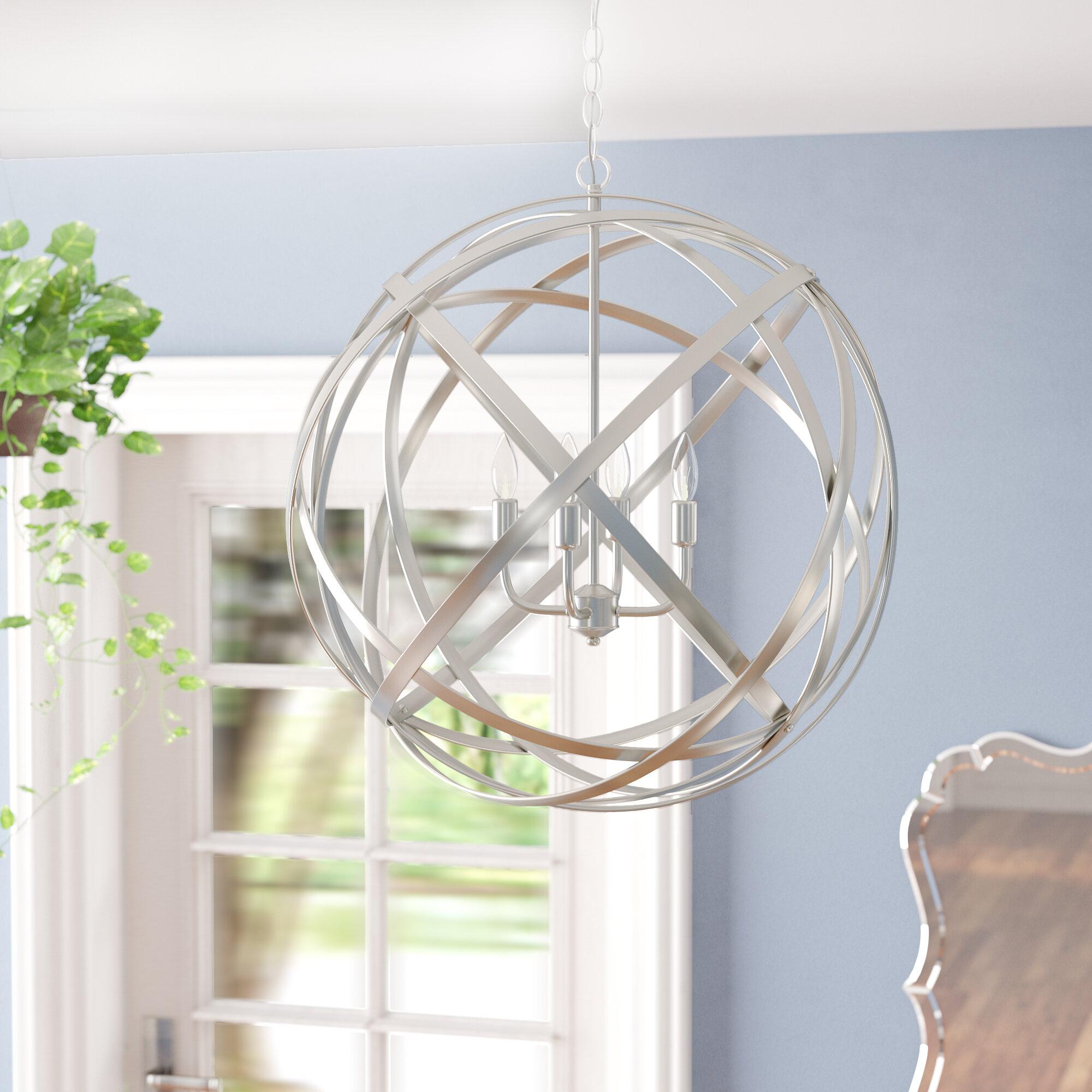 Laurel Foundry Modern Farmhouse Kierra 4-Light Globe Pendant ...