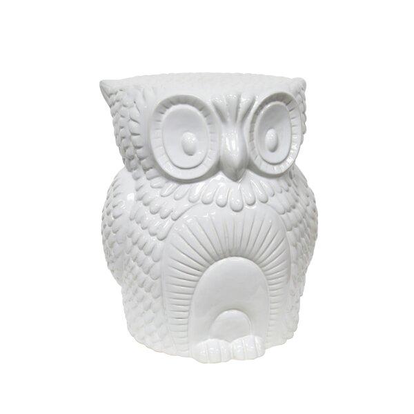 Fiecke Ceramic Owl Garden Stool by Brayden Studio