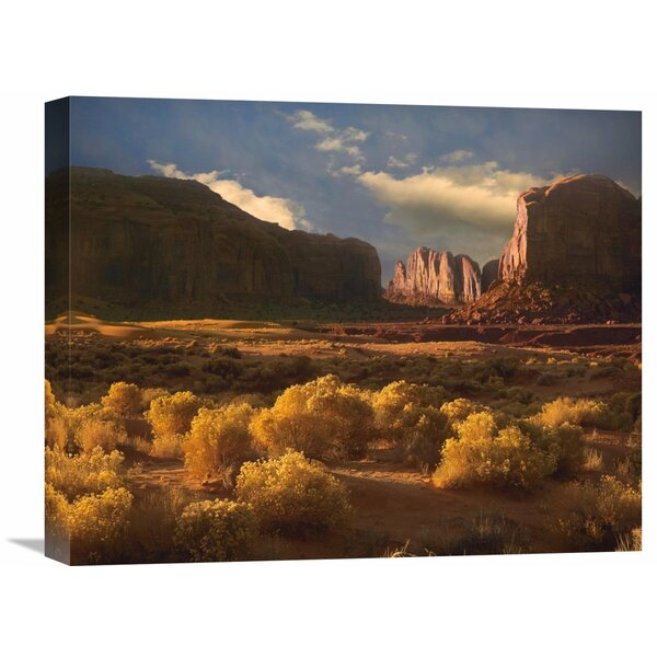 Nature Photographs Camel Butte Rising Out of Desert, Monument Valley, Arizona by Tim Fitzharris Photographic Print on Wrapped Canvas by Global Gallery