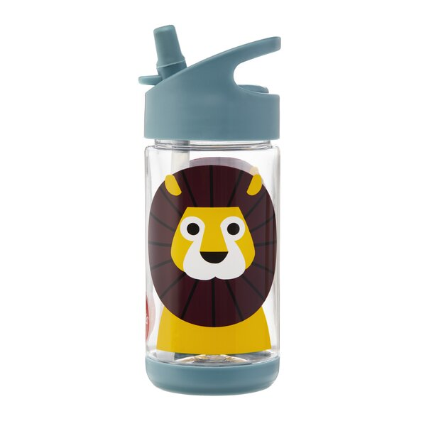 Lion 12 oz. Plastic Water Bottle by 3 Sprouts