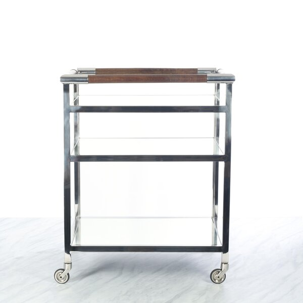 Anley Mirror Shelf Bar Cart by Canora Grey