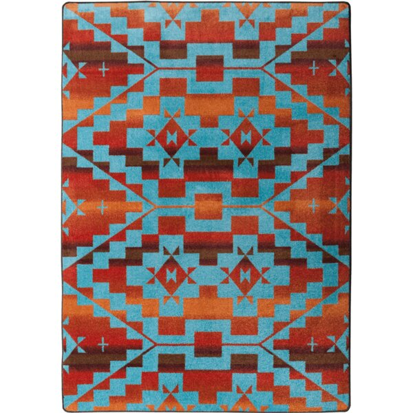 Johnny D Sacred Trail Red Burst Area Rug by American Dakota