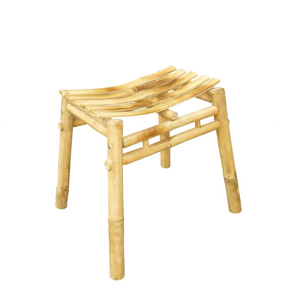 Bamboo Wood Stool by ZEW Inc