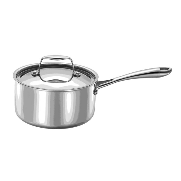 Strauss Integral Stainless Steel Sauce Pan with Lid by MyCuisina