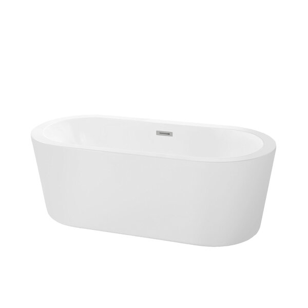 Harrow 66.19 x 30.75 Freestanding Soaking Bathtub by Maykke