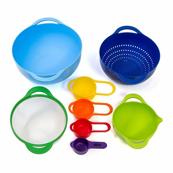 Colorful Stackable 8-Piece Mixing Bowl Set by HULLR