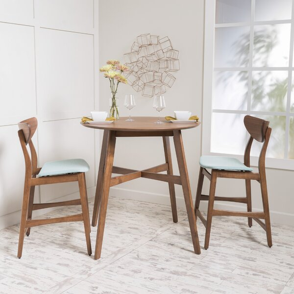 Santa Cruz 3 Piece Counter Height Dining Set By Langley Street™