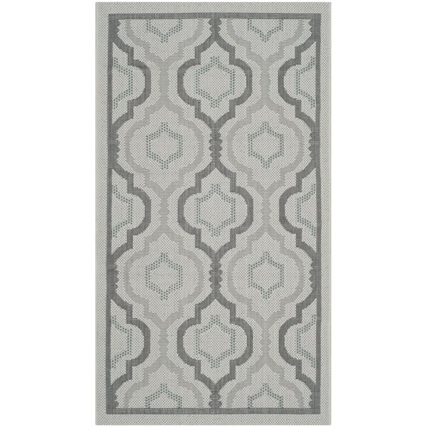 Driffield Light Gray/Anthracite Indoor/Outdoor Area Rug by Charlton Home