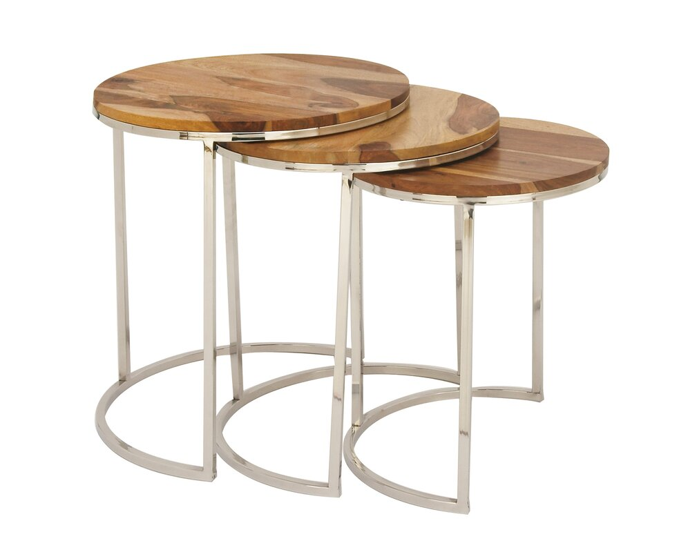 Superb Brechin 3 Piece Nesting Table Set