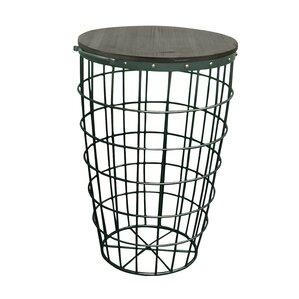 Pflugerville Mini Basket Wood Top End Table (Set of 2) by Gracie Oaks