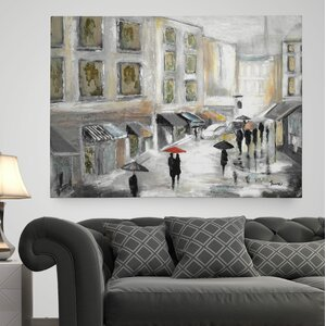 'Sunday Market' Painting Print on Wrapped Canvas by Wexford Home