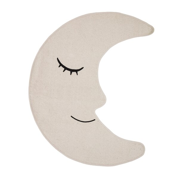 Dimarco Moon Shaped Cotton Cream Area Rug by Harriet Bee