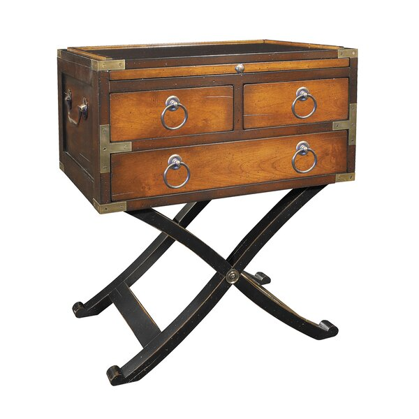 Bombay Box End Table by Authentic Models