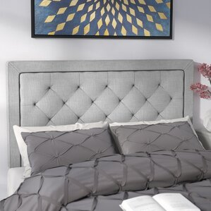 Felicienne Upholstered Panel Headboard with Diamond Tufting by Willa Arlo Interiors