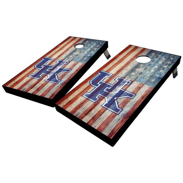 University of Kentucky American Flag 10 Piece Cornhole Set by West Georgia Cornhole