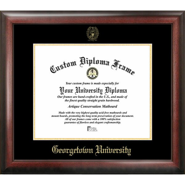 NCAA Georgetown University Gold Embossed Diploma Picture Frame by Campus Images