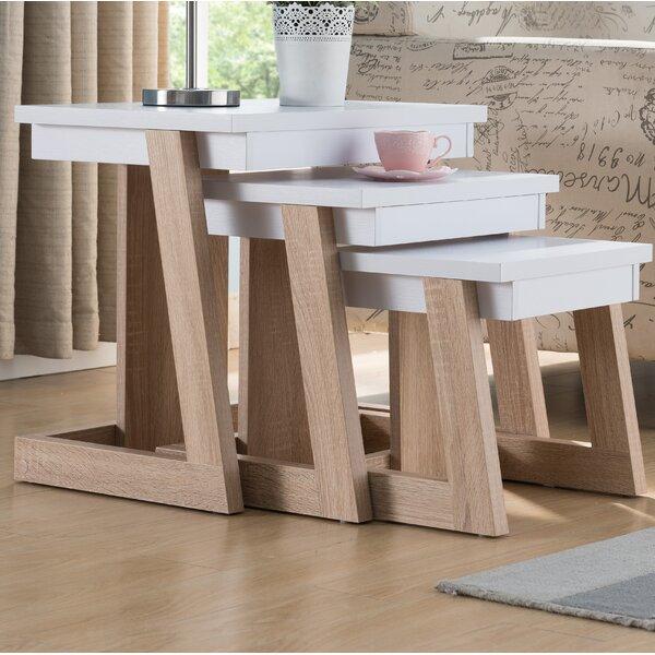 Hwan 3 Piece Nesting Tables By Brayden Studio