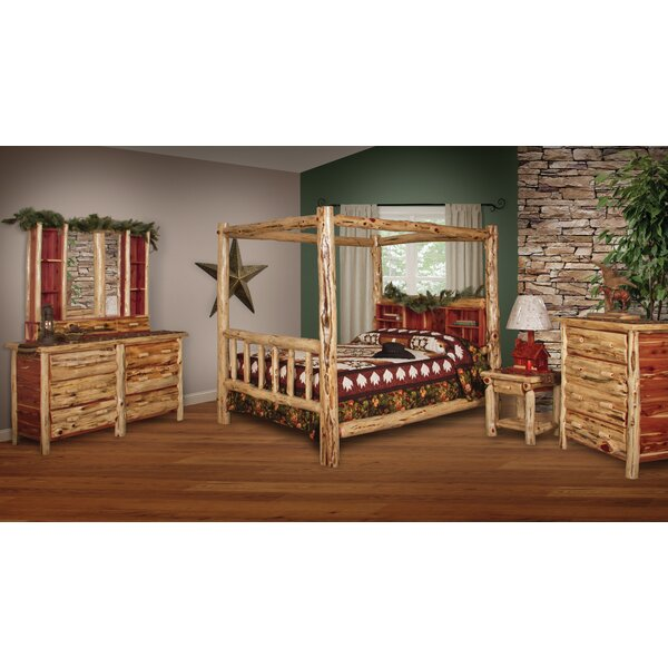 Fordbridge Canopy Solid Wood 6 Piece Bedroom Set by Loon Peak