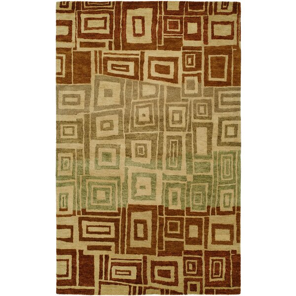 Hand-Tufted Brown/Beige Area Rug by Meridian Rugmakers