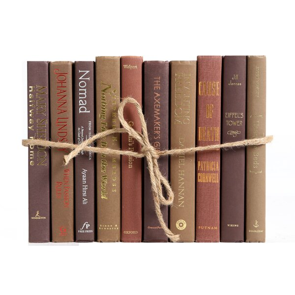 Authentic Decorative Books - By Color Modern Chocolate ColorPak (1 Linear Foot, 10-12 Books) by Booth & Williams