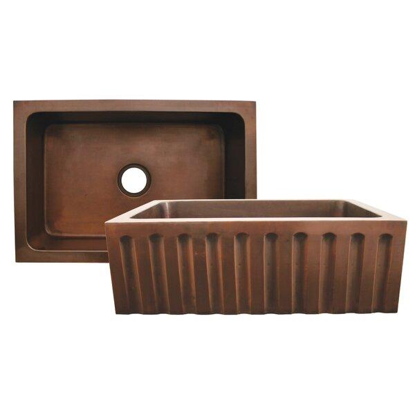 Copperhaus 30 L x 20 W Rectangular Undermount Kitchen Sink by Whitehaus Collection