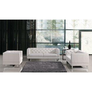 Superbe Alsatia Leather 3 Piece Living Room Set