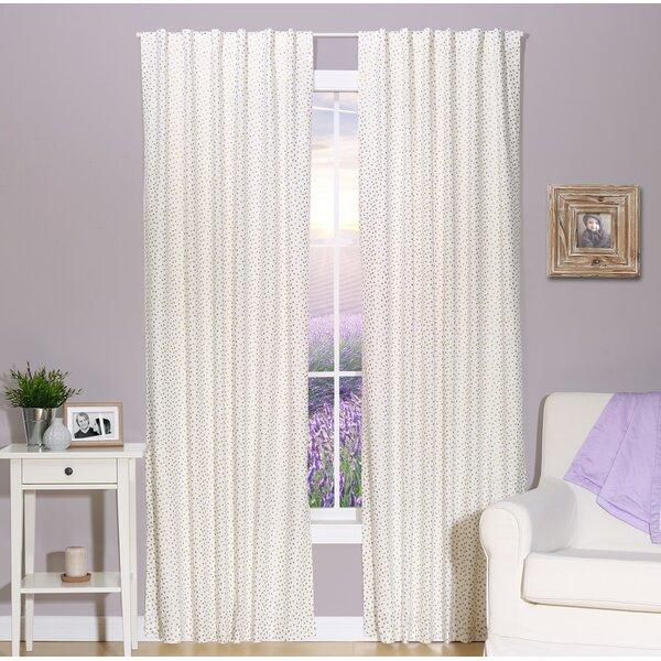 Confetti Polka Dots Semi-Sheer Rod Pocket Curtain Panels (Set of 2) by The Peanut Shell