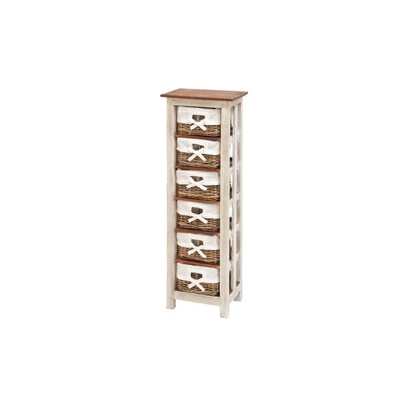6 Drawer Solid Wood Rattan Accent Chest by Cole & Grey