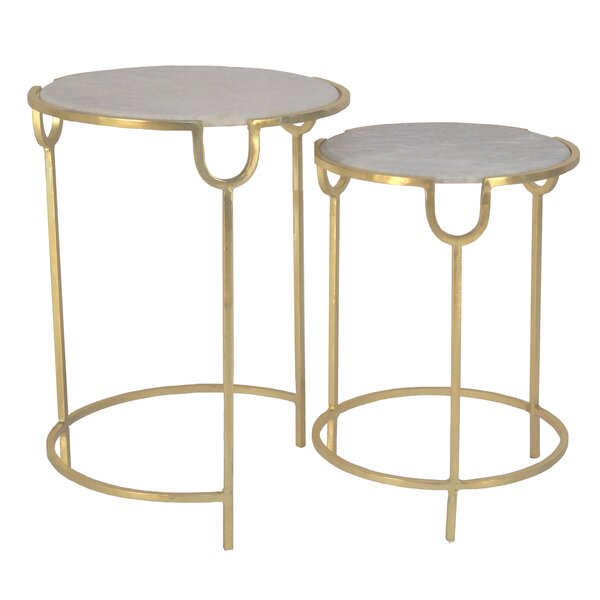 Fouts 2 Piece Nesting Tables By Everly Quinn