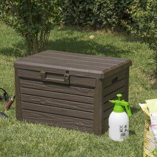 Wood Effect Garden 120L Plastic Storage Box & Garden Storage Boxes | Wayfair.co.uk