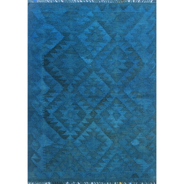 Earle Hand-Knotted Wool Blue Area Rug by Bloomsbury Market