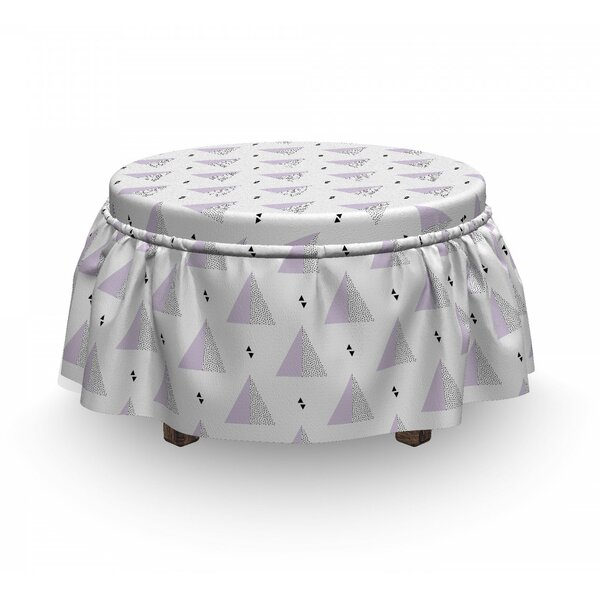 Triangles Ottoman Slipcover (Set Of 2) By East Urban Home