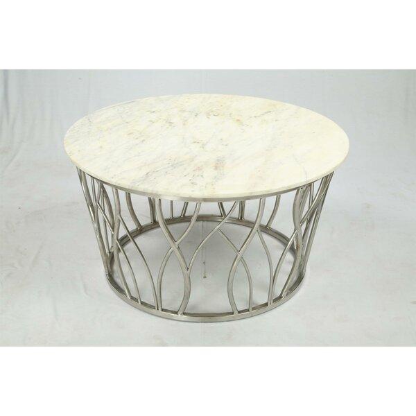 Fearn Pedestal Coffee Table by Brayden Studio Brayden Studio