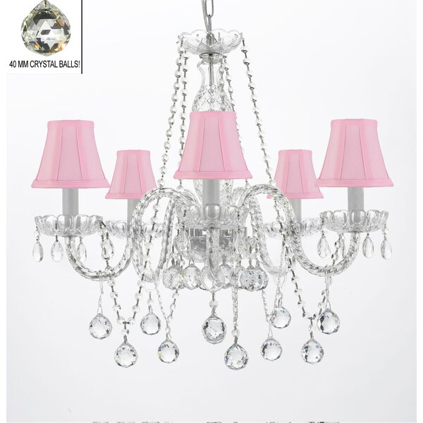 Hoffman 5-Light Shaded Chandelier by Rosdorf Park